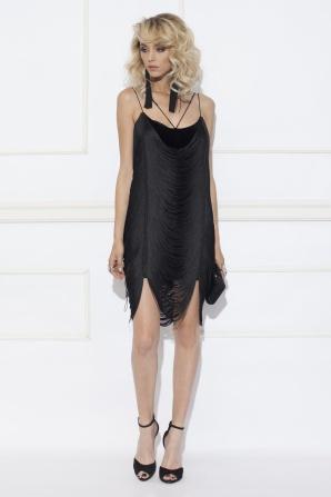 Fringed evening dress
