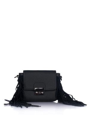 Black fringed purse