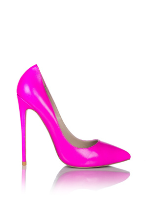 Pink heeled shoes