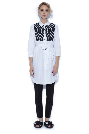 Ghipura lace long shirt