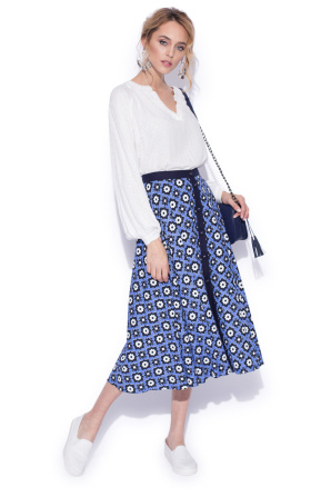Casual printed flared skirt