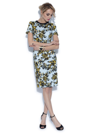 Casual pencil dress with floral print