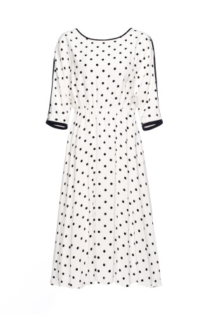 Polka dots flared dress