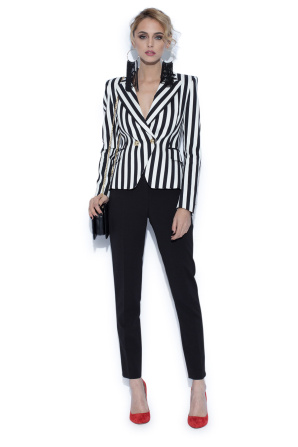 Jacket with contrasting stripes