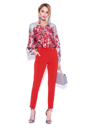 Bouffant sleeves floral top