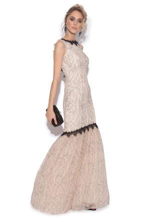 Lace assymetrical dress