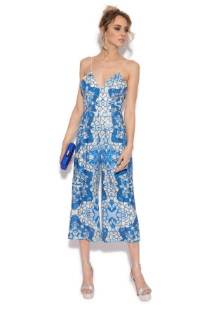 Elegant jumpsuit with geometrical print