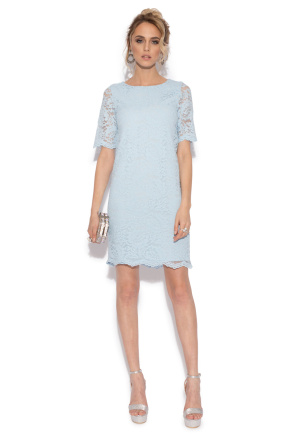 Lace evening short dress