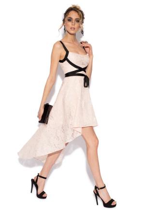 Lace asymmetrical dress