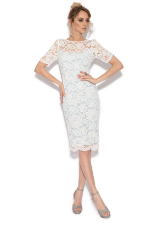 Evening pencil lace dress