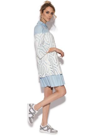 Ghipura flared short dress