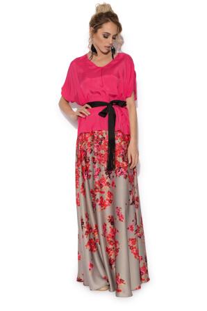 Flowers print maxi skirt