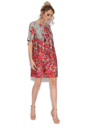 Floral print H line dress
