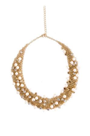 Colier cu pietre si perle stralucitoare