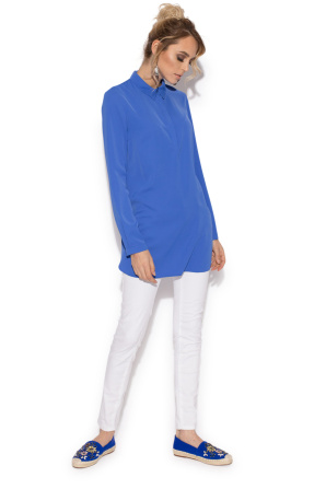 Midi shirt with long sleeves