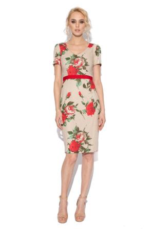 Rochie conica cu print floral
