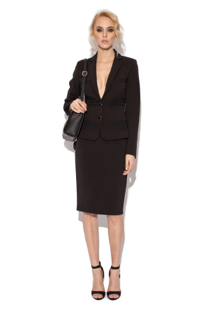 Black fitted jacket with inserts