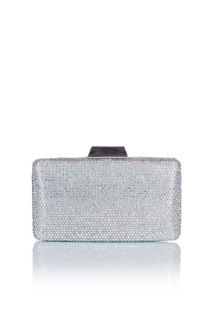 Crystal glass clutch