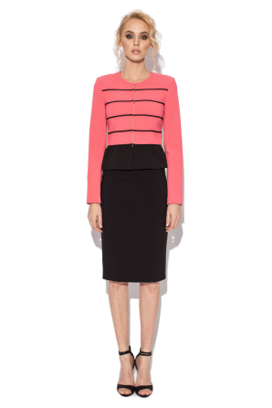 Peplum jacket with contrasting details