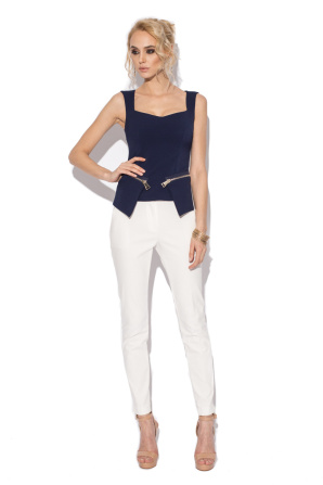 Navy corset top