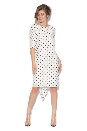 Assymetrycal polka dots dress