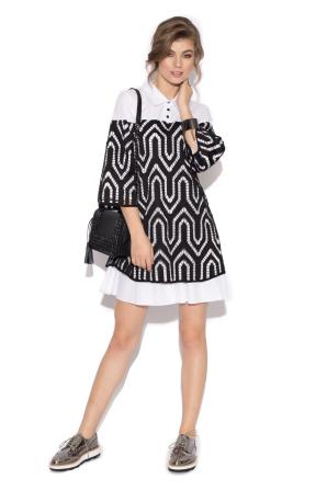 Mini dress with Ghipura lace