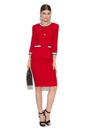 Red office suit jacket