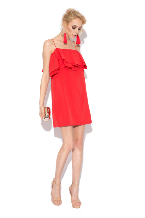 Ruffled evening dress