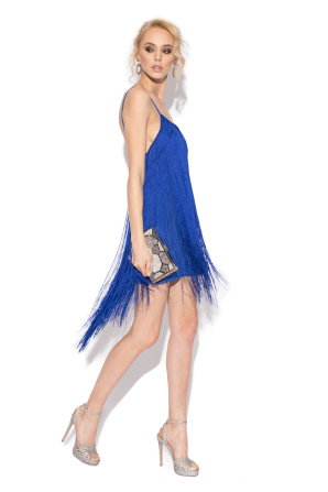 Fringe evening dress