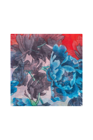 Multicolored silk scarf