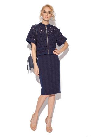 Lace blue skirt