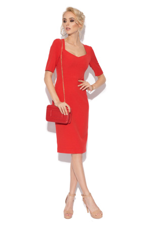 Office red day dress