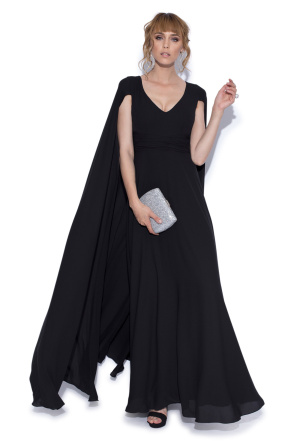 Caped evening dress