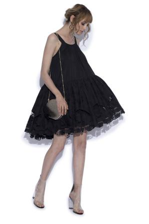 Mini cotton & silk dress