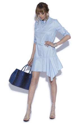 light blue cotton day dress