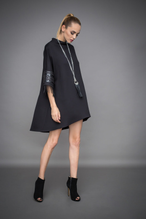 Asymmetric dress with sleeve details