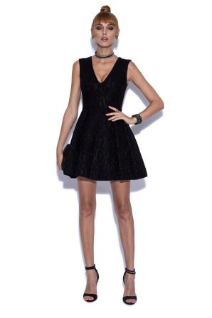 Lace dress with V-neckline