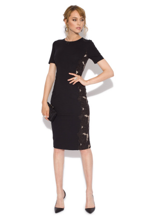 Cocktail dress with side lace details