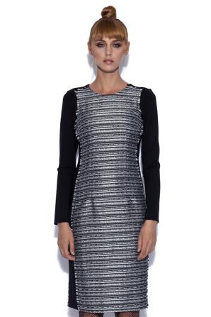Rochie midi in culori contrastante