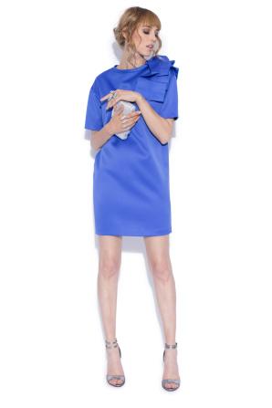 Cocktail dress with shoulder detail