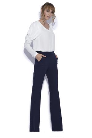 Pantaloni drepti navy