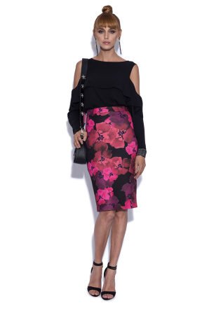 Pencil skirt in floral print