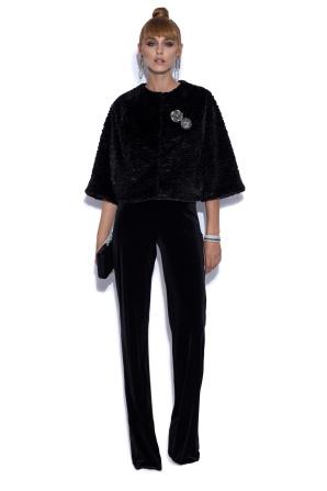 Pantaloni drepti din catifea