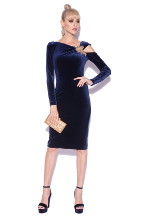 Bodycon dress with shoulder detail