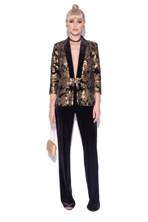 Elegant blazer with gold sequins