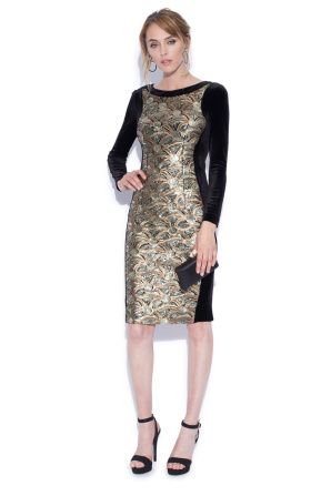 Midi dress with sequin print
