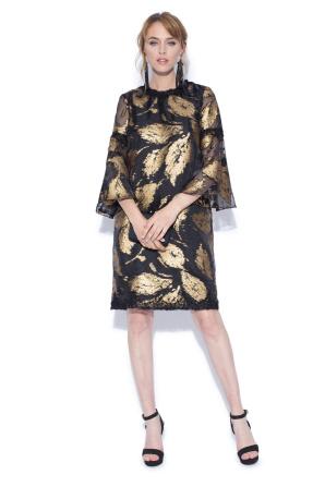 Gold printed dress