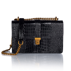 Real leather croco type purse