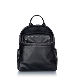 Faux leather backpack with metallic studs