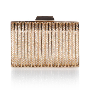 Golden clutch with crystals